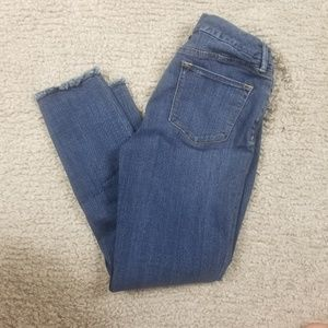 The Limited Denim Ankle Skinny Raw Hem Jeans